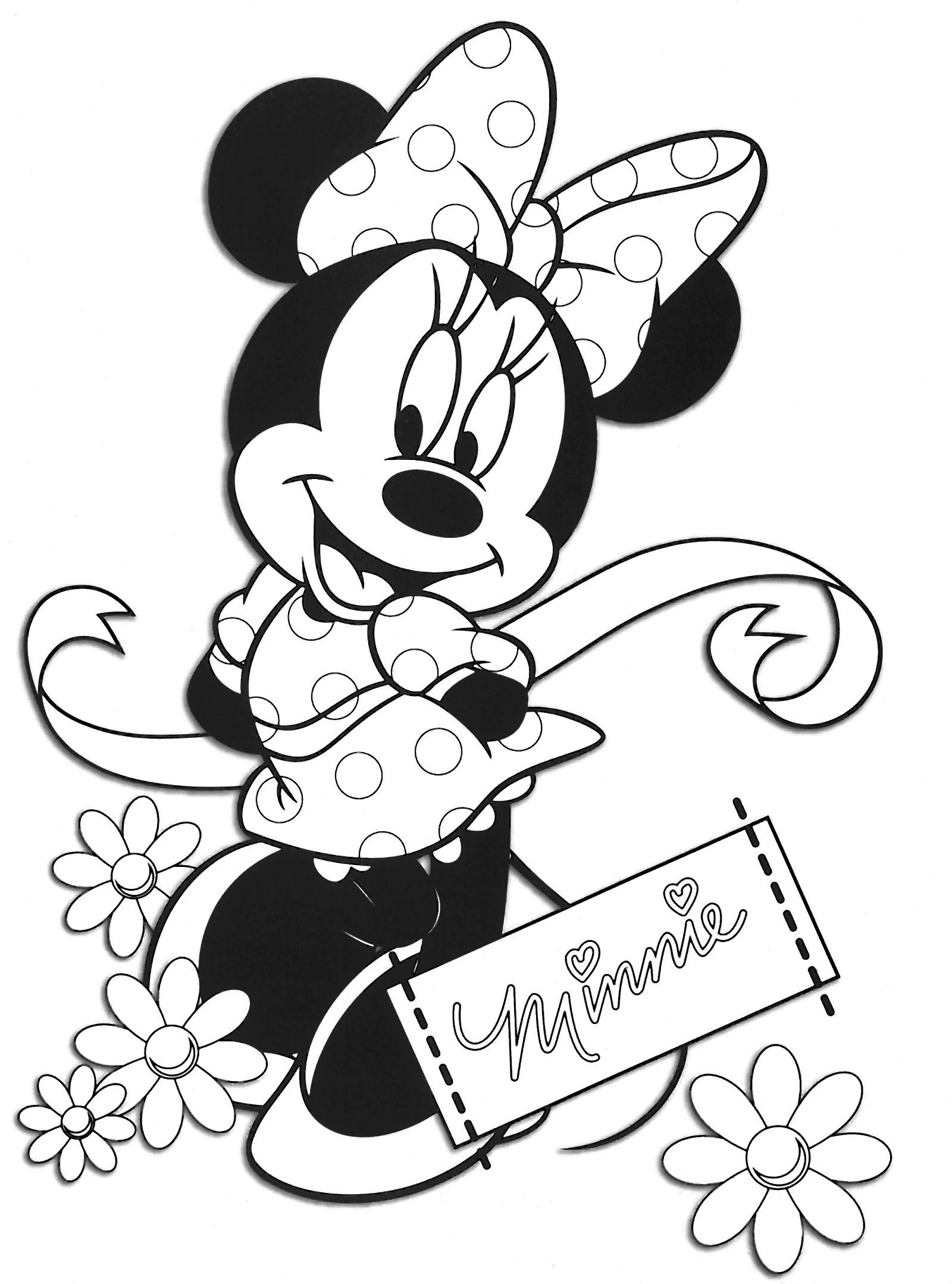 Nice 19 Coloriage Minnie Anniversaire Coloriage Minnie Coloriage Pages De Coloriage Disney