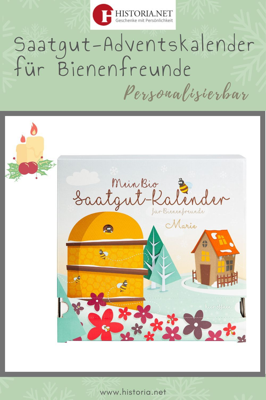 Der Umweltfreundliche Adventskalender Saatgut Adventskalender Fur Bienenfreunde Personalisierte Weihnachtsgeschenke Saatgut Adventskalender