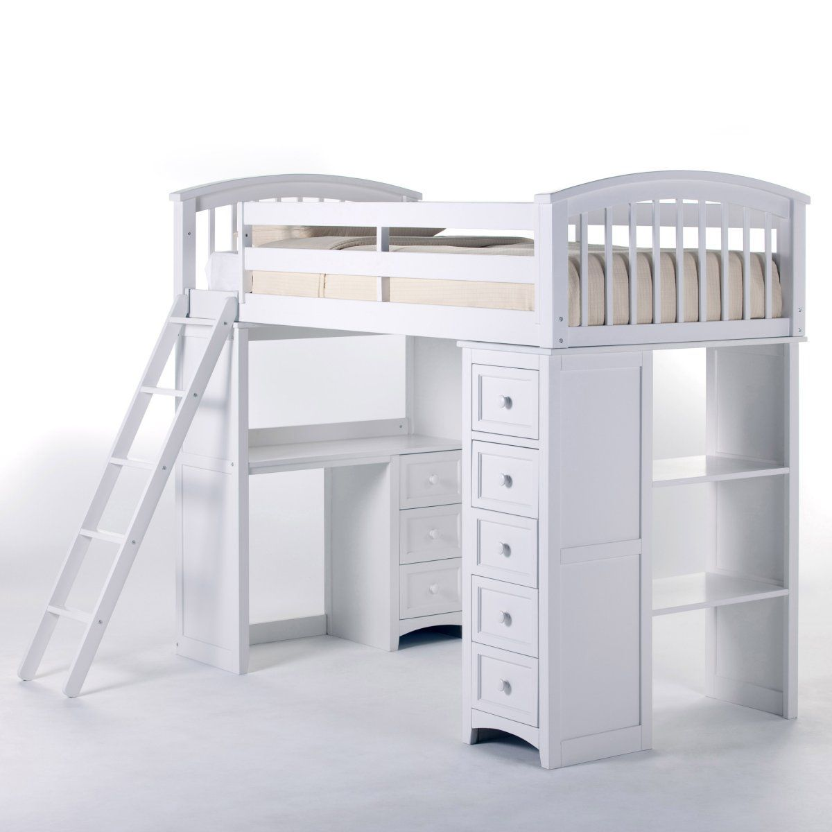 Best Schoolhouse Student Loft Bed White Loft Beds At Simply 640 x 480