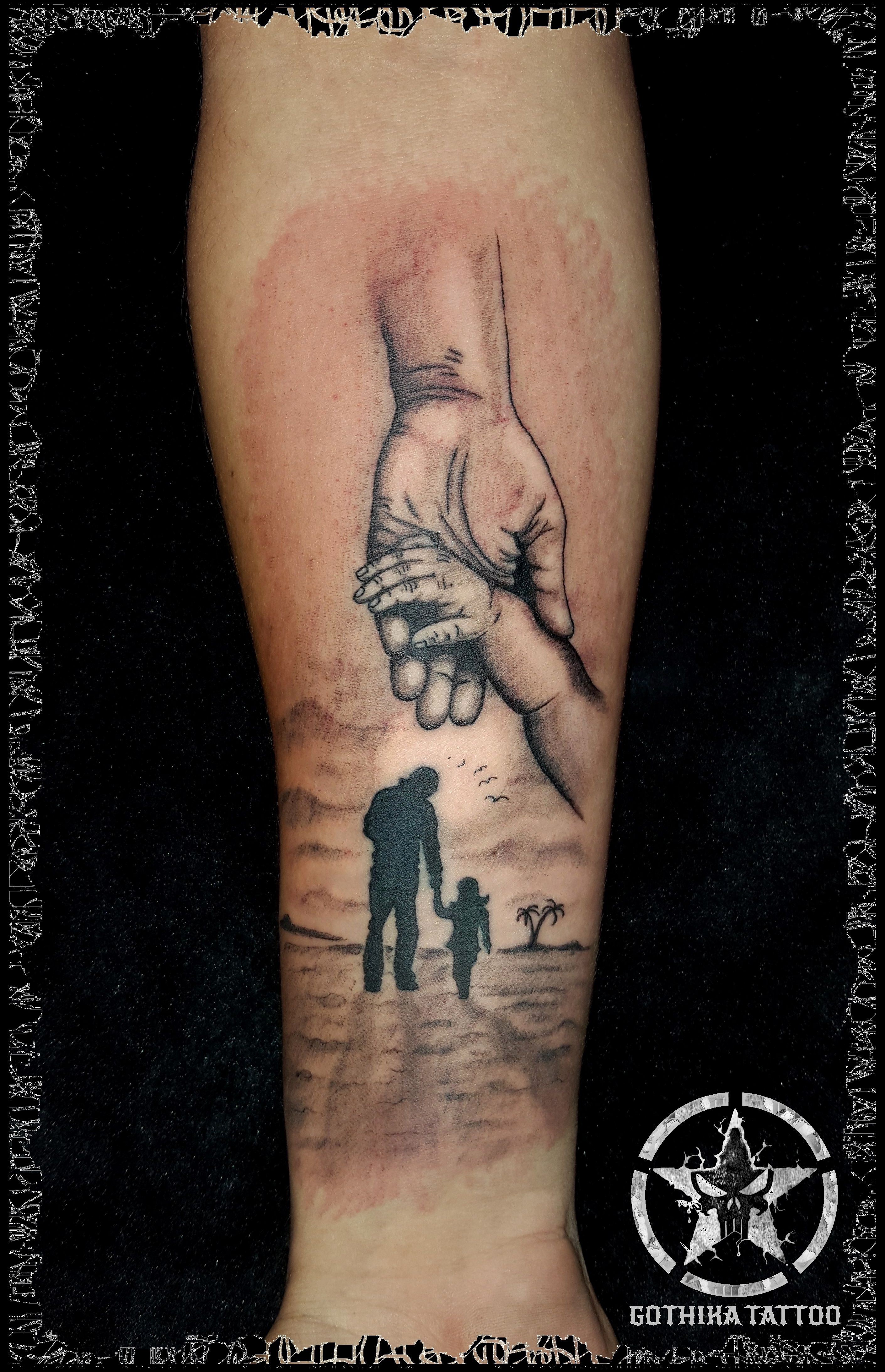 Father daughter tattoo tatoo pinterest father for Father daughter tattoos ideas