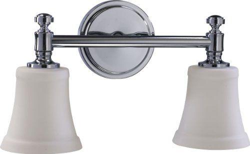 "Quorum International 5122-2-14 Two Light 16.5"" Wide Bathroom Fixture, Chrome Quorum International http://www.amazon.com/dp/B001YRNTP6/ref=cm_sw_r_pi_dp_MUylub162XSTM"