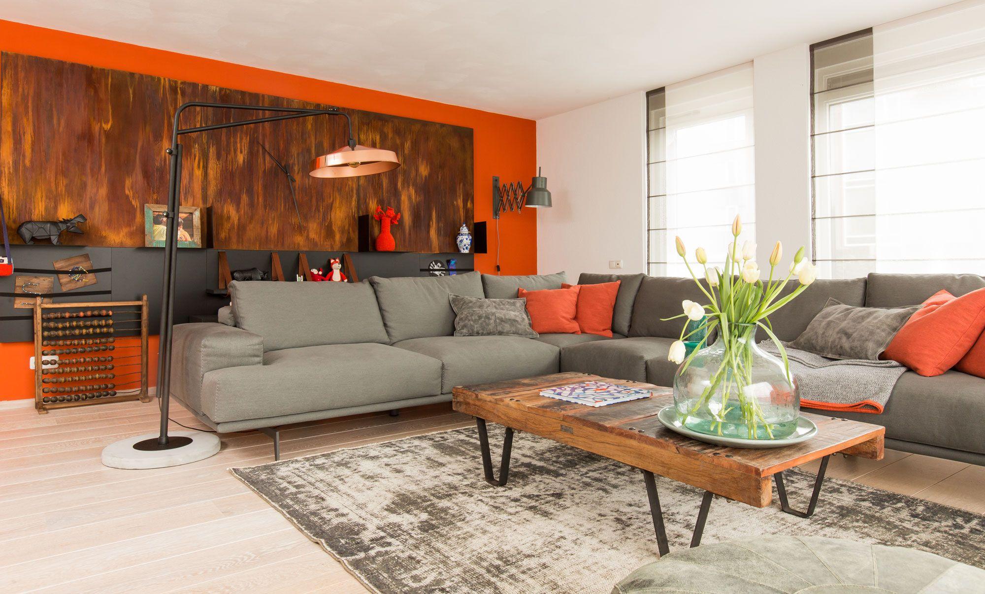 Oranje muur ideeen voor onze boederij pinterest for Huis interieur kleuren