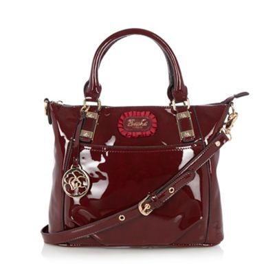 Dark red patent grab bag | Sacha London