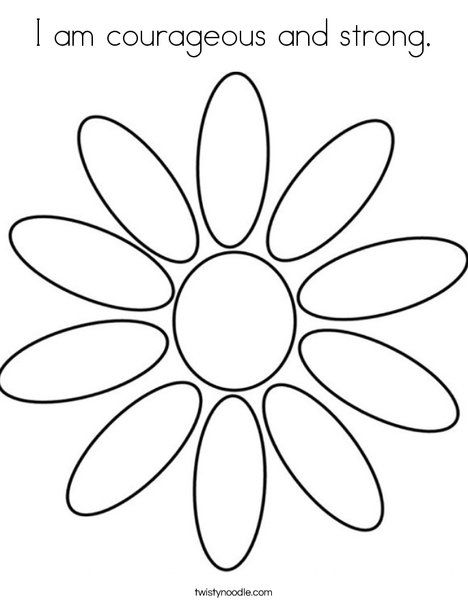 I Am Courageous And Strong Coloring Page Girl Scout Daisy Petals
