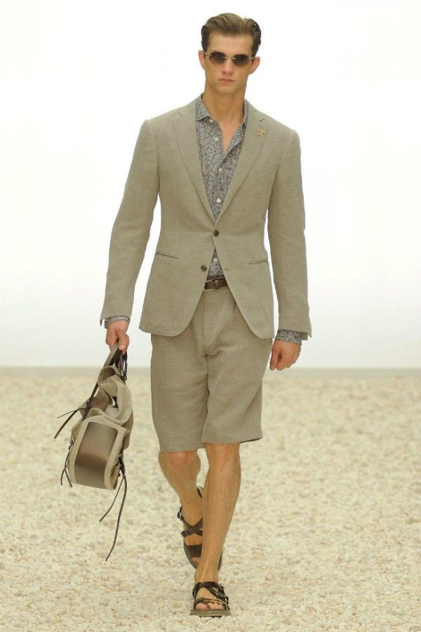 Mens shorts suits Spring-Summer 2012 by Ermenegildo Zegna ...