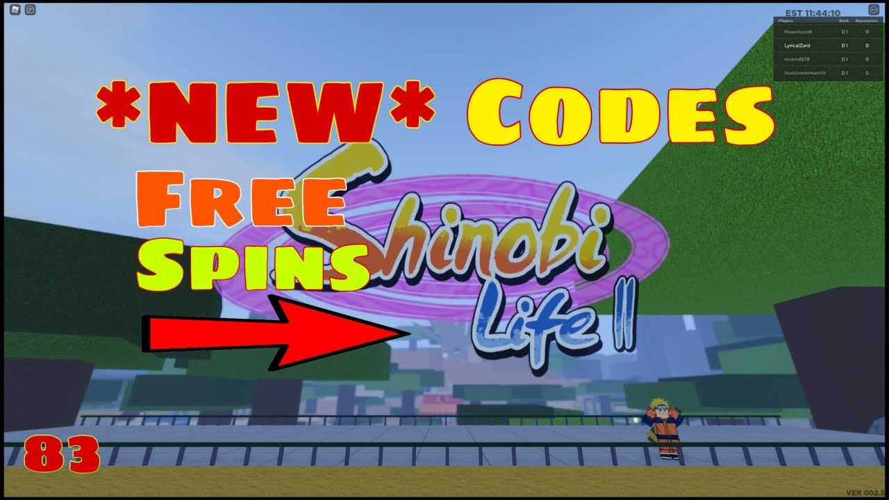 New Free Codes Sl2 Shinobi Life 2 Gives Free Spins Claim Now Roblox Roblox Coding Spinning