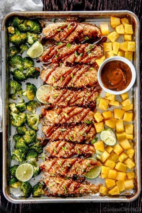 Sheet Pan Suppers #sheetpansuppers Sheet Pan Thai Peanut Coconut Chicken with Pineapple Family-friendly Sheet Pan Suppers. Easy dinner recipes for moms on the go! #dinners #suppers #sheetpan #dinnerrecipes #recipeshealthy #easydinnerrecipes #easyrecipe #sheetpandinners #sheetpanrecipes #supperideas #thai #thairecipes #pineapplechicken #sheetpansuppers Sheet Pan Suppers #sheetpansuppers Sheet Pan Thai Peanut Coconut Chicken with Pineapple Family-friendly Sheet Pan Suppers. Easy dinner recipes for #sheetpansuppers