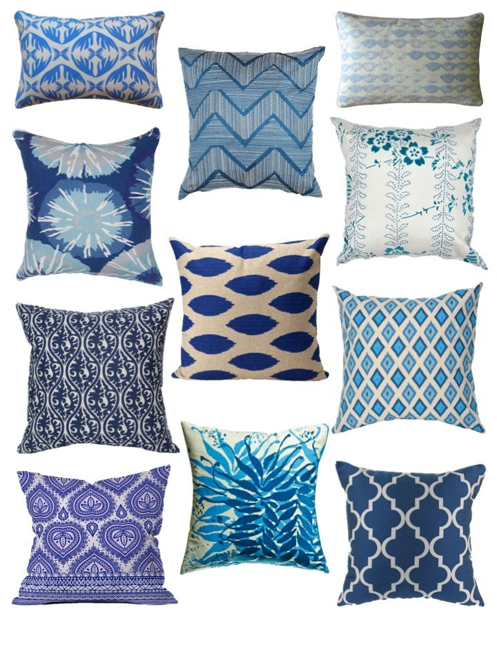 Better In Blue 11 Unique Pillow Patterns Pure Inspiration