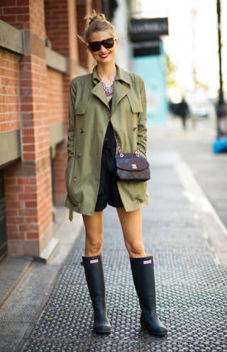 最近はオシャレなレインブーツが増えていますから、何足か買ってみるのもいいかも。 #雨の日 #rainyday #outfits