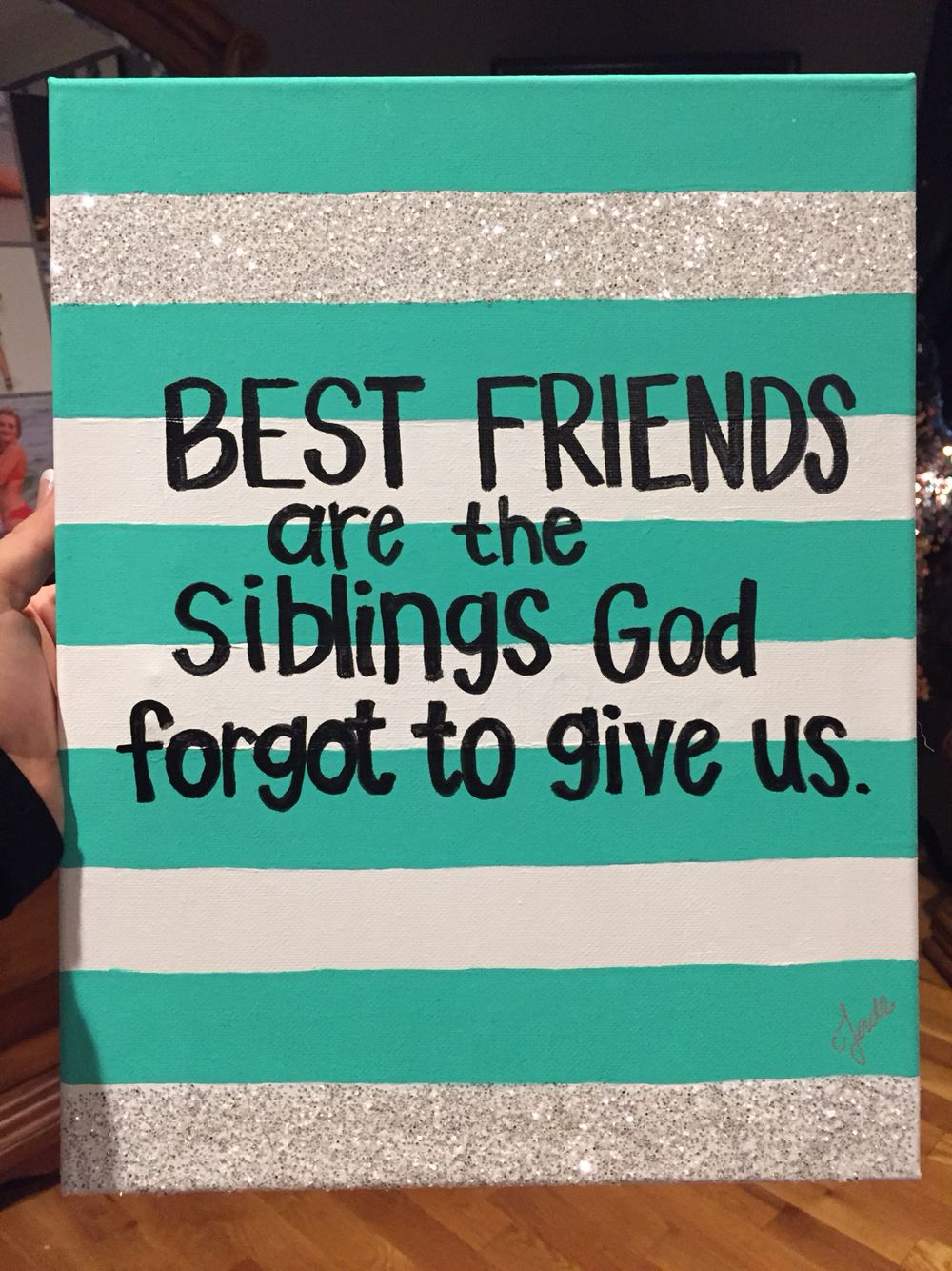 Best friends canvas diy pinterest friend canvas for Gift to give your best friend