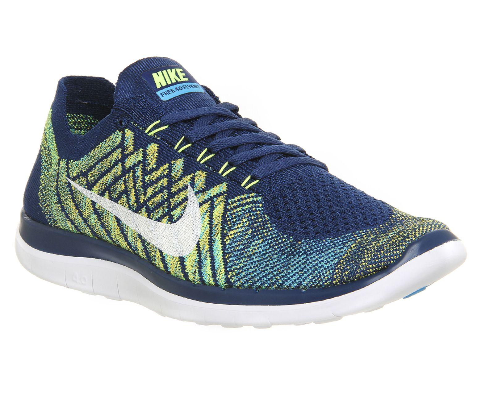 new york 6efe7 d1eaa Nike, Nike Free 4.0 Flyknit, Brave Blue White Black