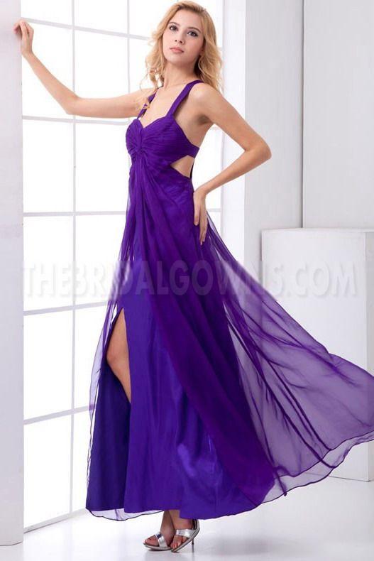 Purple Luxury A-Line Prom Dress - Order Link: http://www.thebridalgowns.com/purple-luxury-a-line-prom-dress-tbg7208 - SILHOUETTE: A-Line; SLEEVE: Sleeveless; LENGTH: Floor Length; FABRIC: Chiffon; EMBELLISHMENTS: Beading - Price: 185USD