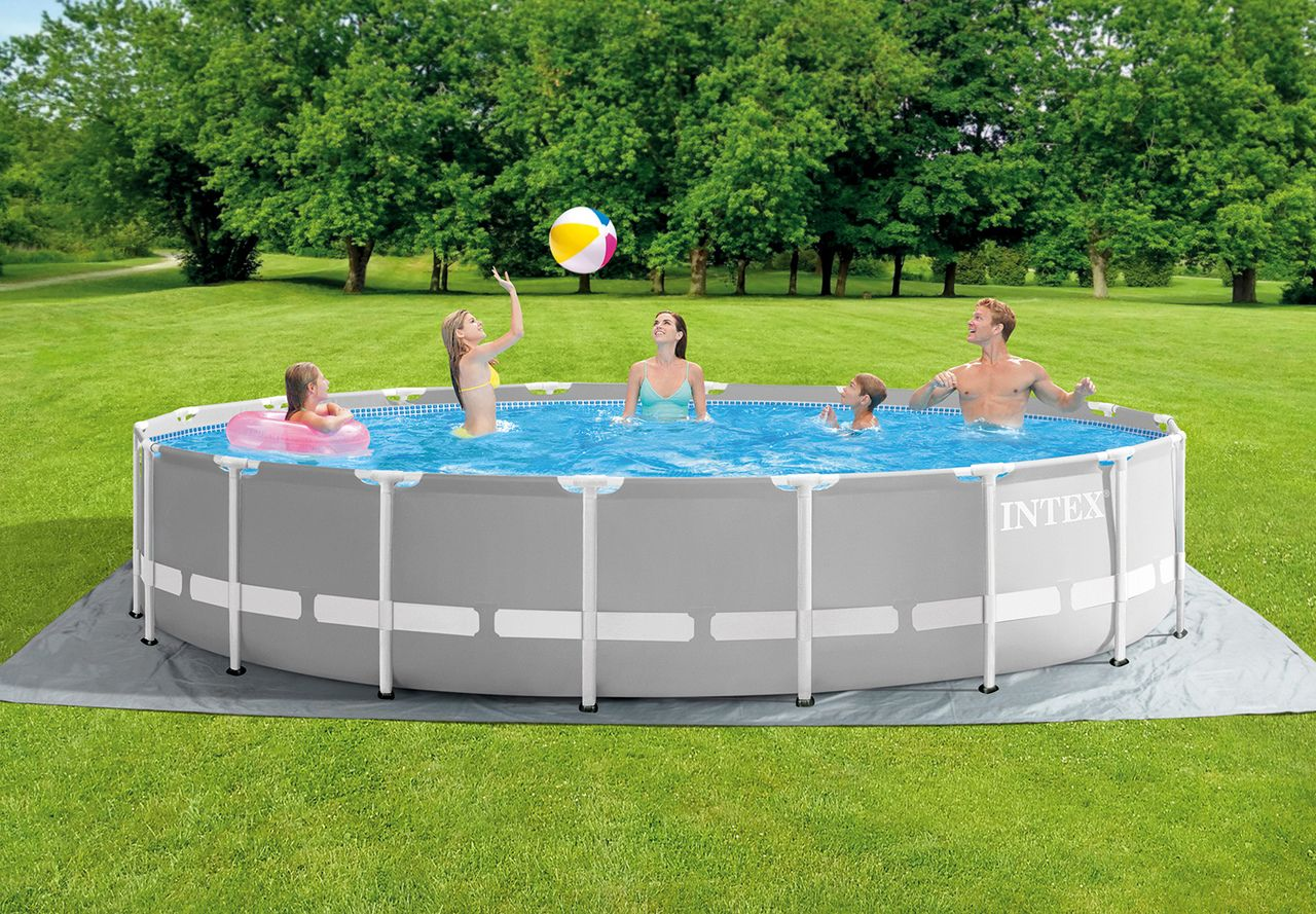 18ft X 48in Prism Frame Pool Set The Leader In Above Ground Pools Airbeds And Pool Easy Set Pools Swimming Pools Backyard