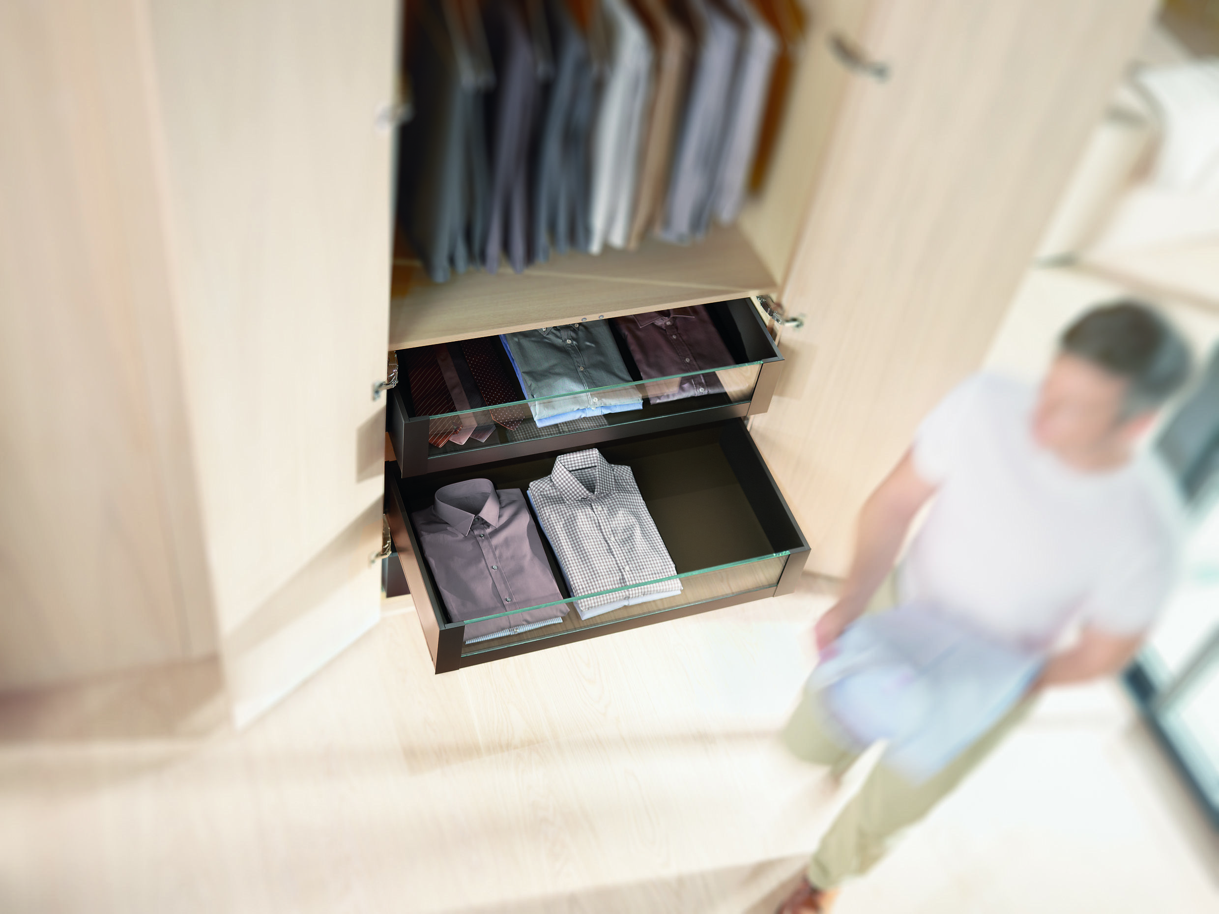 Blum for Bedrooms! Wardrobe drawer storage solutions available at ...