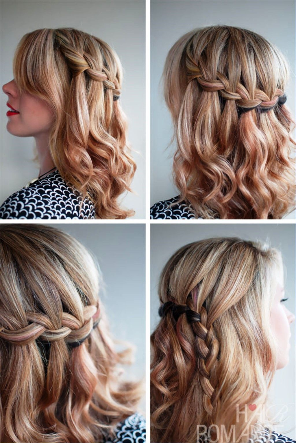 pictures of the waterfall braid half updo 2013 | hair and beauty