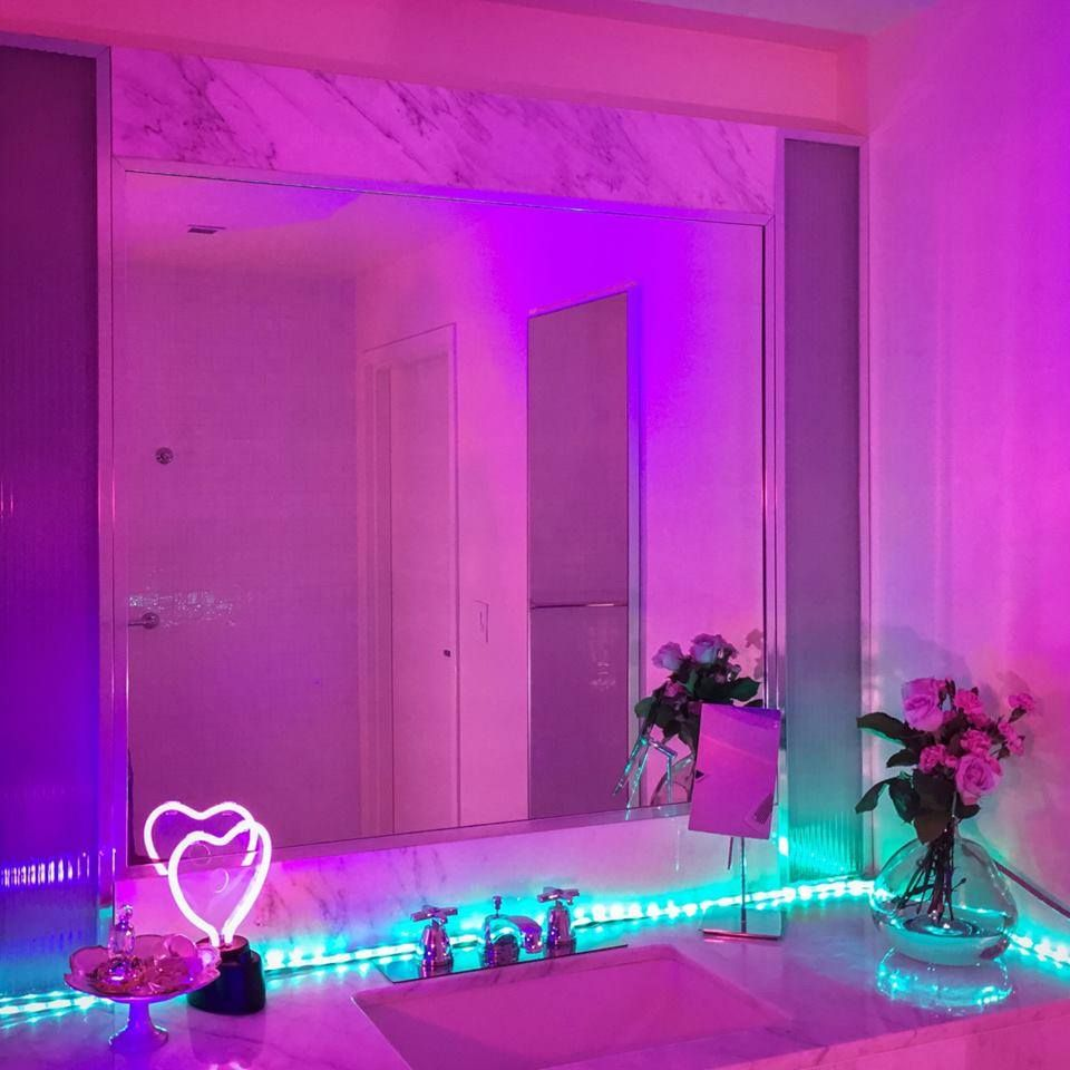 Image result for neon light photography photography for Neon bedroom decor