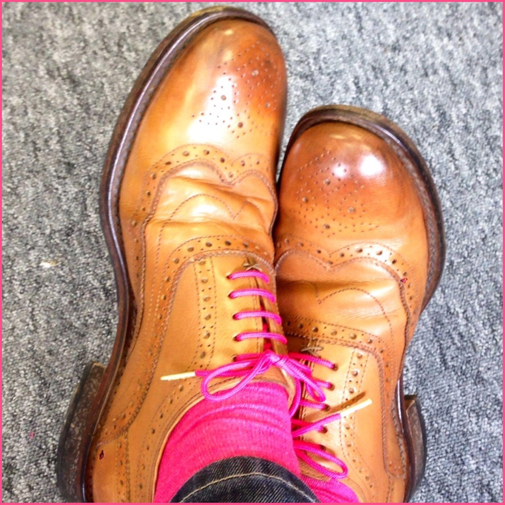 portabud | Tan shoes, Pink shoelaces