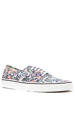 eb09b83d3a Vans Authentic x Liberty of London Authentic Sneaker in Birds and Navy