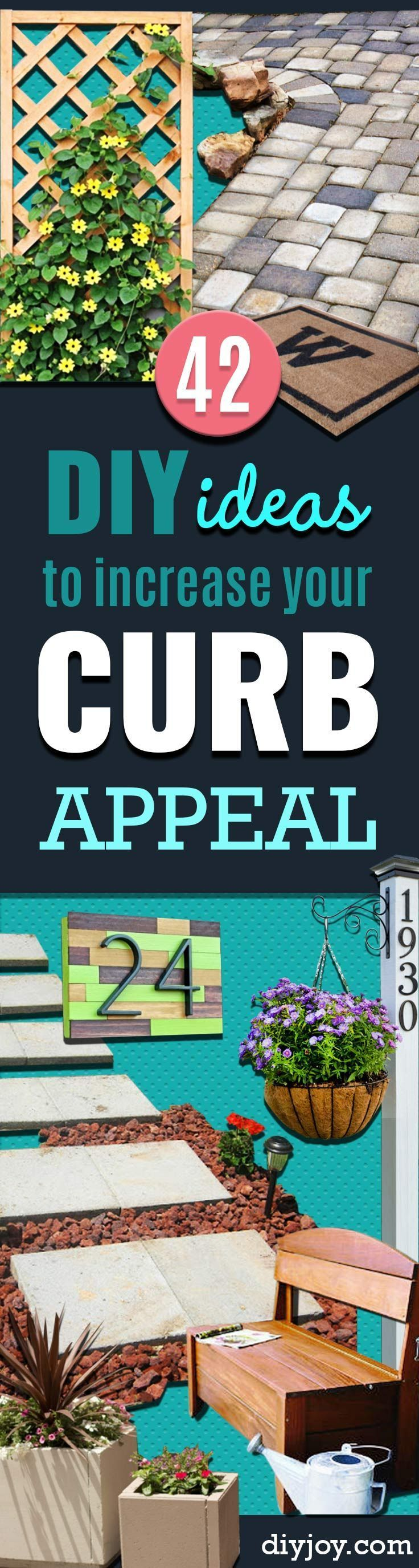42 Diy Ideas To Increase Curb Appeal Curb Appeal Backyard Makeover Diy On A Budget