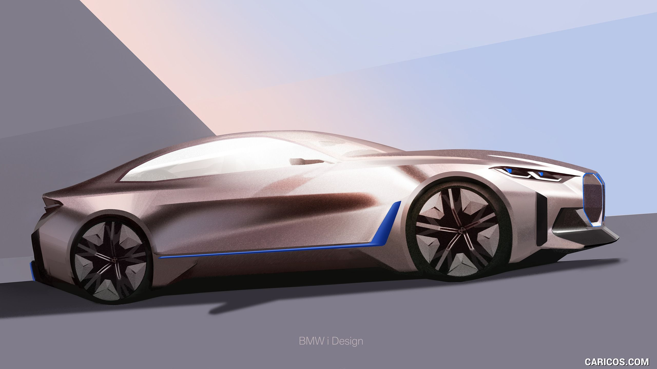 Bmwi4concept Rose Gold Eucalyptus Wood Natural Interior Crystals I M In Love My First Electric Car For Sure In 2020