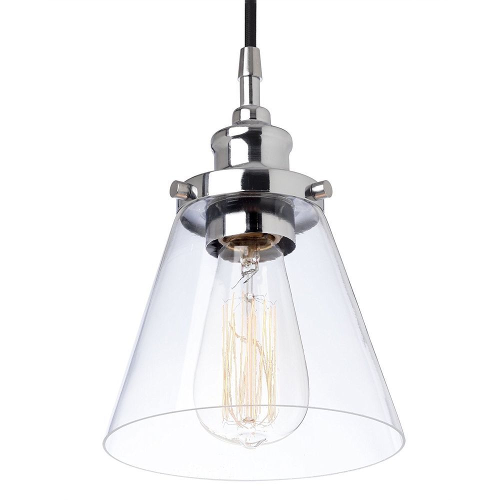 Ebay #Clear #Glass #Pendant #Light #Fixture #Industrial #Ceiling ...