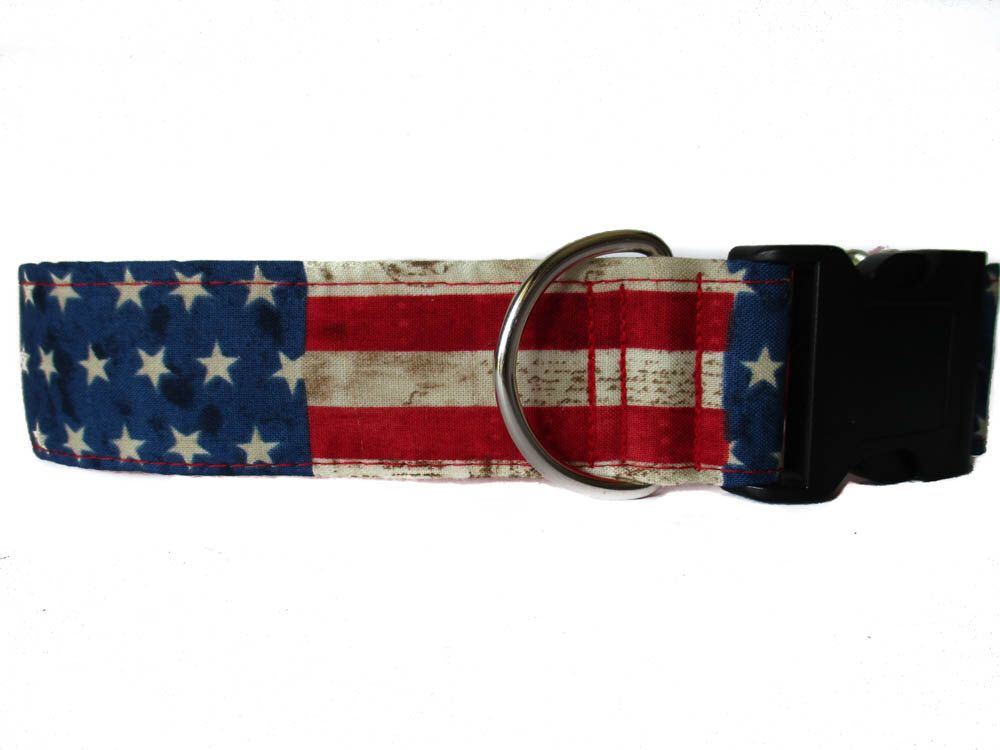 4th of July Dog Collar, Stars and Stripes, American Flag Dog Collar, Wide Dog Collar, Quick Release Dog Collar, Independence Day Dog Collar by HuggableHound on Etsy https://www.etsy.com/listing/280869716/4th-of-july-dog-collar-stars-and-stripes