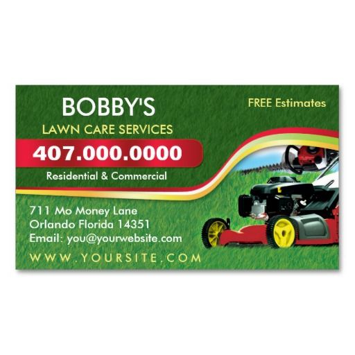 Landscaping Lawn Care Mower Business Card Template Zazzle Com Landscaping Business Cards Lawn Care Business Lawn Care Business Cards