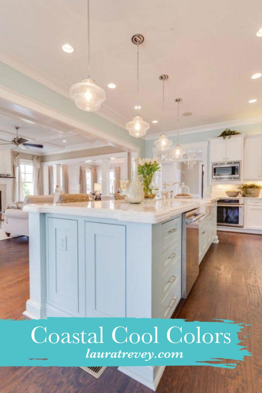 Coastal Cool Colors Coastal Kitchen Kitchen Remodel Beach Kitchens