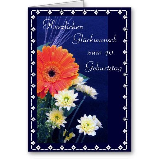 German Happy 40th 50th Birthday Card Zazzle Com Birthday Cards Happy 40th 50th Birthday Cards