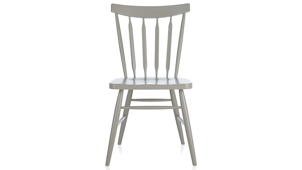 Willa Dove Wood Dining Chair Crate And Barrel Dining Chairs