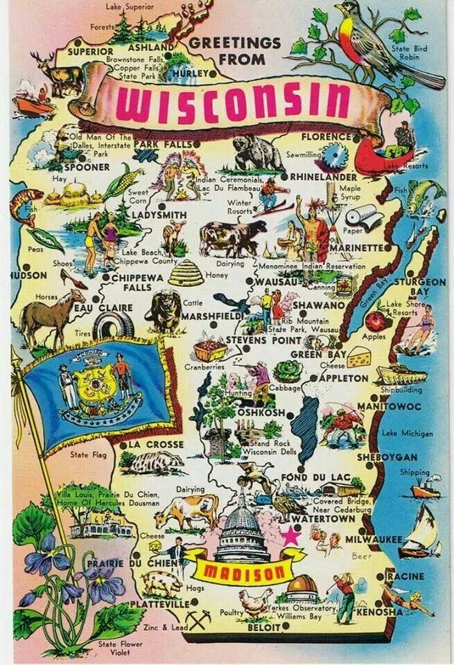 Wisconsin Homesick Wisconsin Dells Wisconsin Travel Map