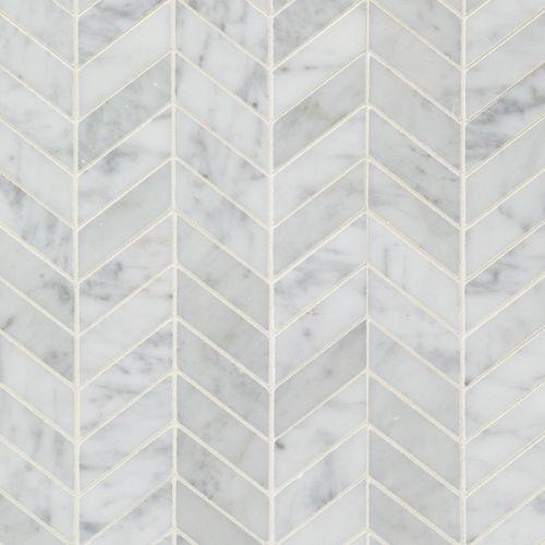 Available At Arizona Tile Bianco Carrara Chevron 1x3