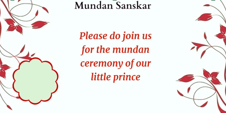 Mundan Ceremony Invitation Quotes, Card Design and ...