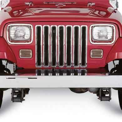 Grille Insert Trim 87 95 Wrangler Yj Chrome Smittybilt Jeep Yj