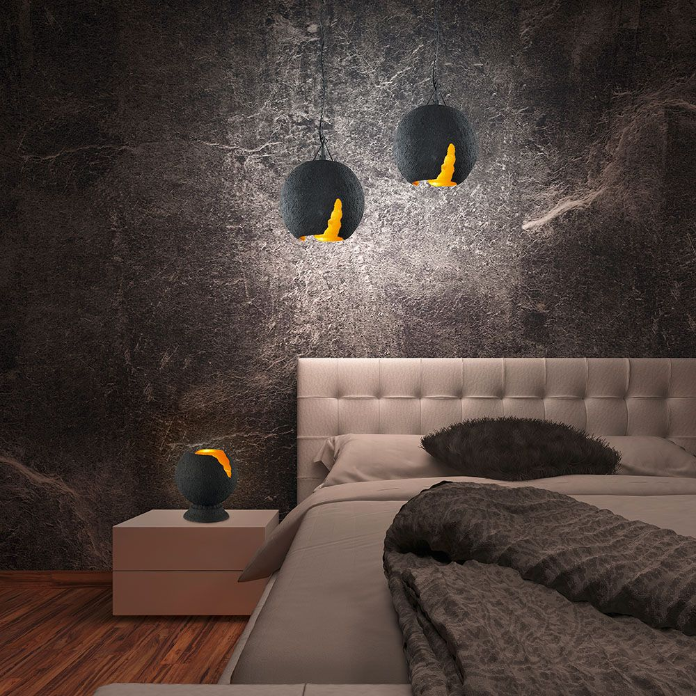 vintage pendelleuchte schwarz und gold design lampen leuchten lampen design lampen und. Black Bedroom Furniture Sets. Home Design Ideas