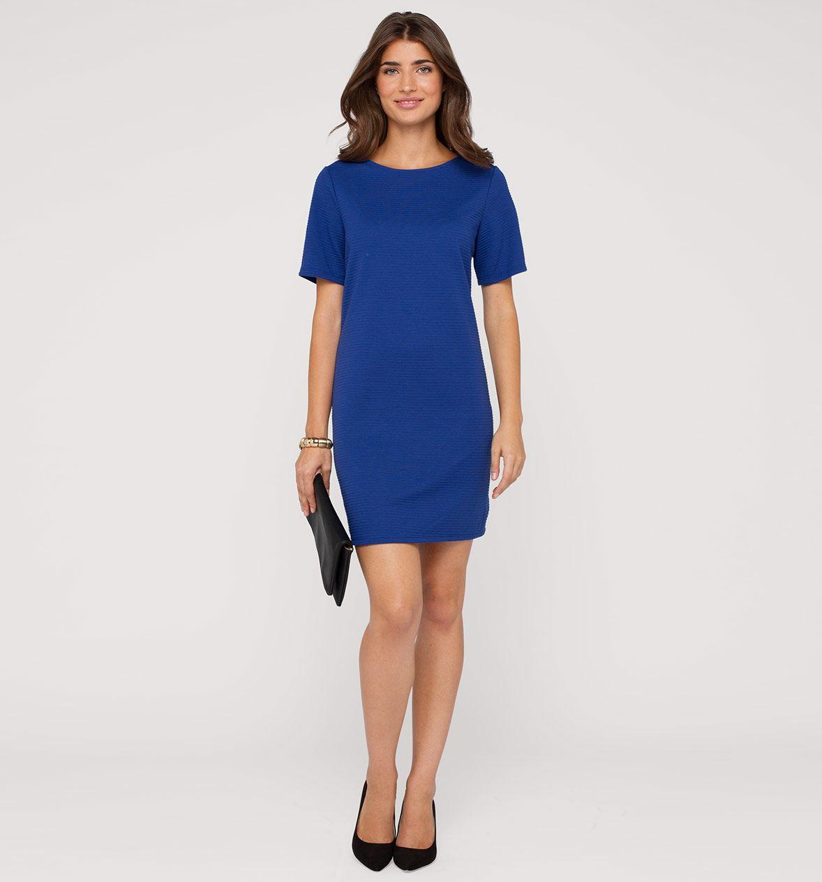 Stretch-Kleid in blau