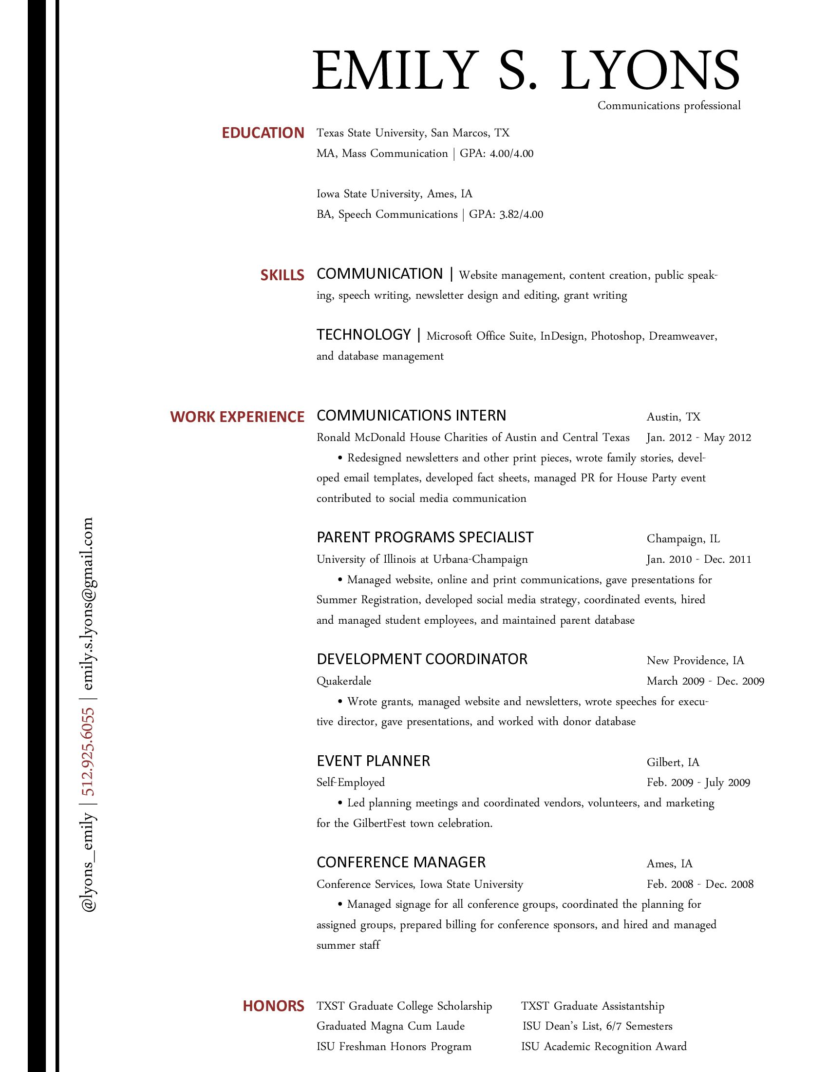 short resume samples comm tool box the communications resume