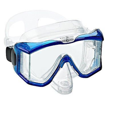 Snorkels and Sets 71162: Aqua Lung Sport Panoramic Purge Mask Clear Blue Free Shipping BUY IT NOW ONLY: $30.69