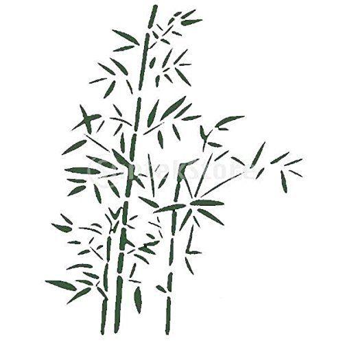 Pochoir de Peinture Murale Motif Feuille de Bambou Maison Art