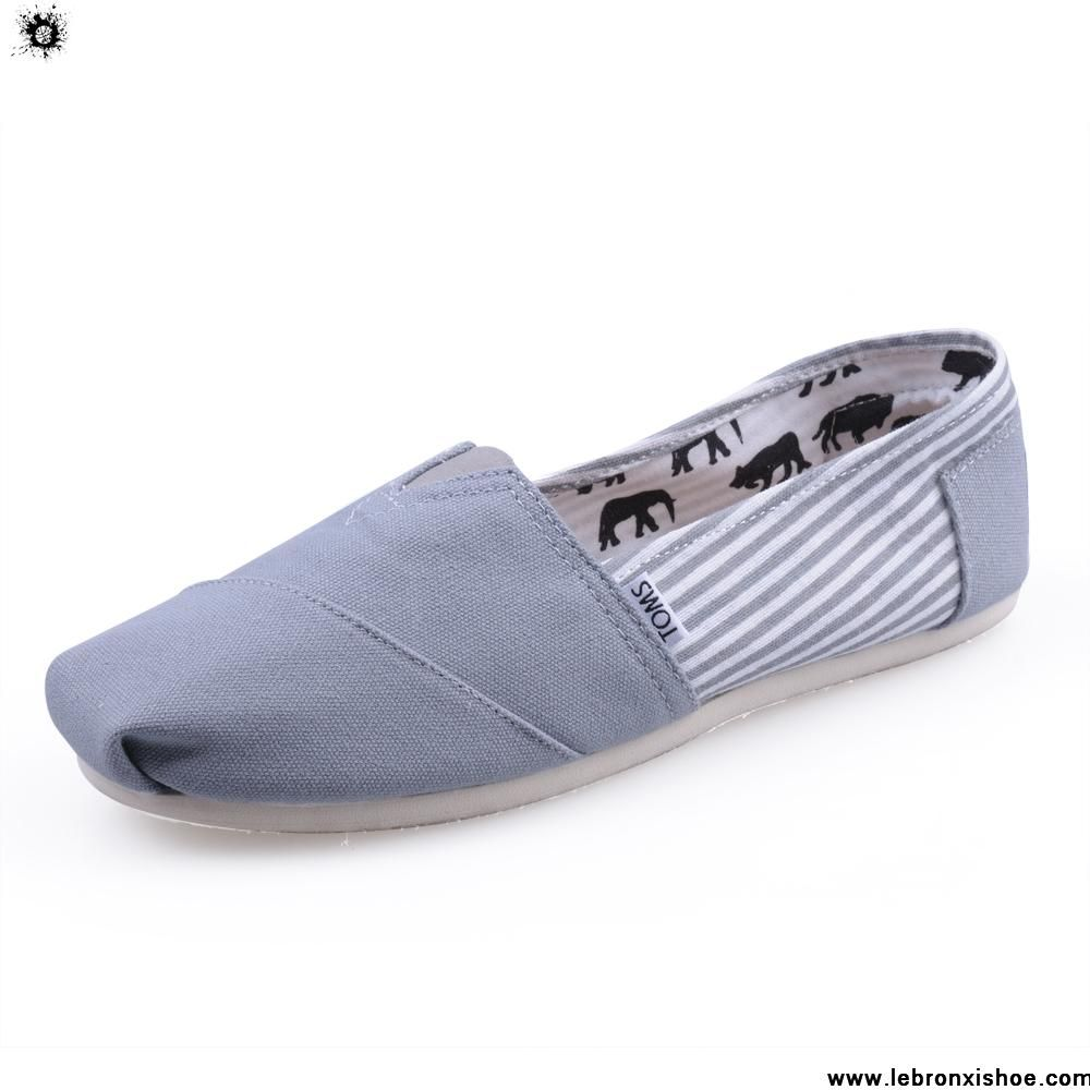Buy Cheap Canvas Stripe Grey Womens Classics Toms Shoes Casual shoes Store