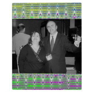 Add your photo to this colorful photo plaque #zazzle #photos #frame #gifts
