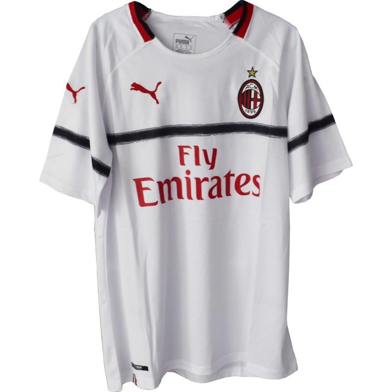 Ac Milan 2018 19 Away Jersey White Size M