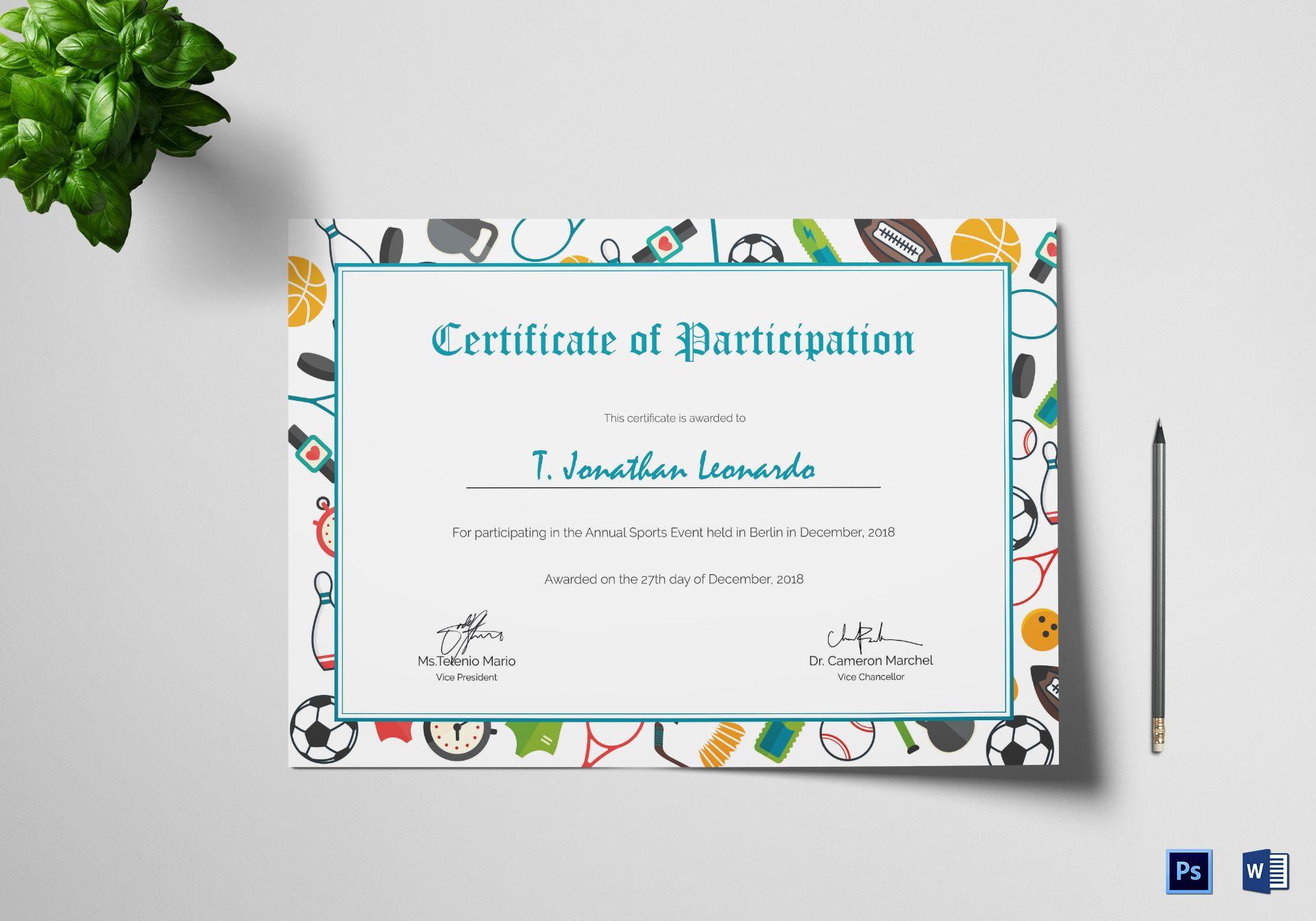 Editable Soccer Ball Certificate Template Sport Certificate Award Printable Sport Certific Certificate Templates Printable Sports Certificate Design Template