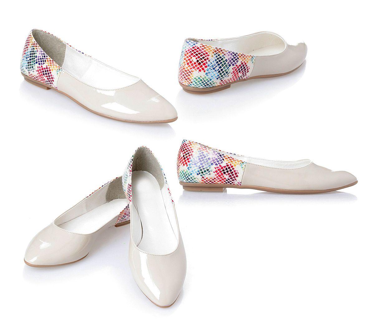Balerinki Wkladka Skora Bezowe Lakier R 36 40 6093424868 Oficjalne Archiwum Allegro Shoes Mule Shoe Slippers