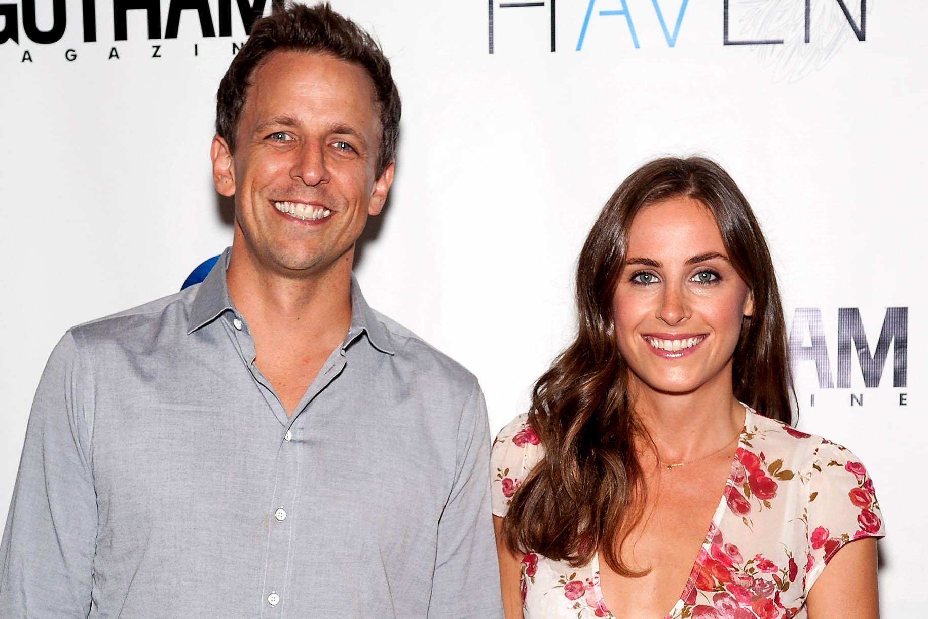 Seth Meyers And Wife Alexi Ashe Have Mega Watt Smiles