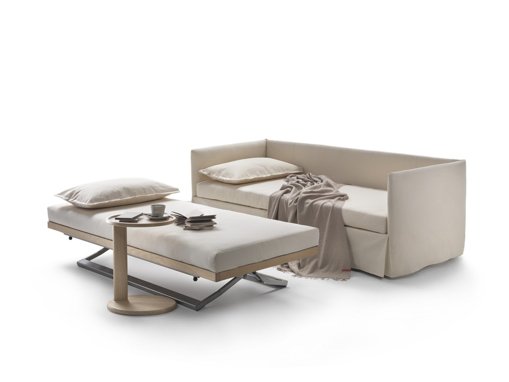 Fabric Sofa Bed With Removable Cover Twins By Flexform Design Giulio Manzoni In 2020 Sofa Bed Fabric Sofa Fabric Sofa Bed