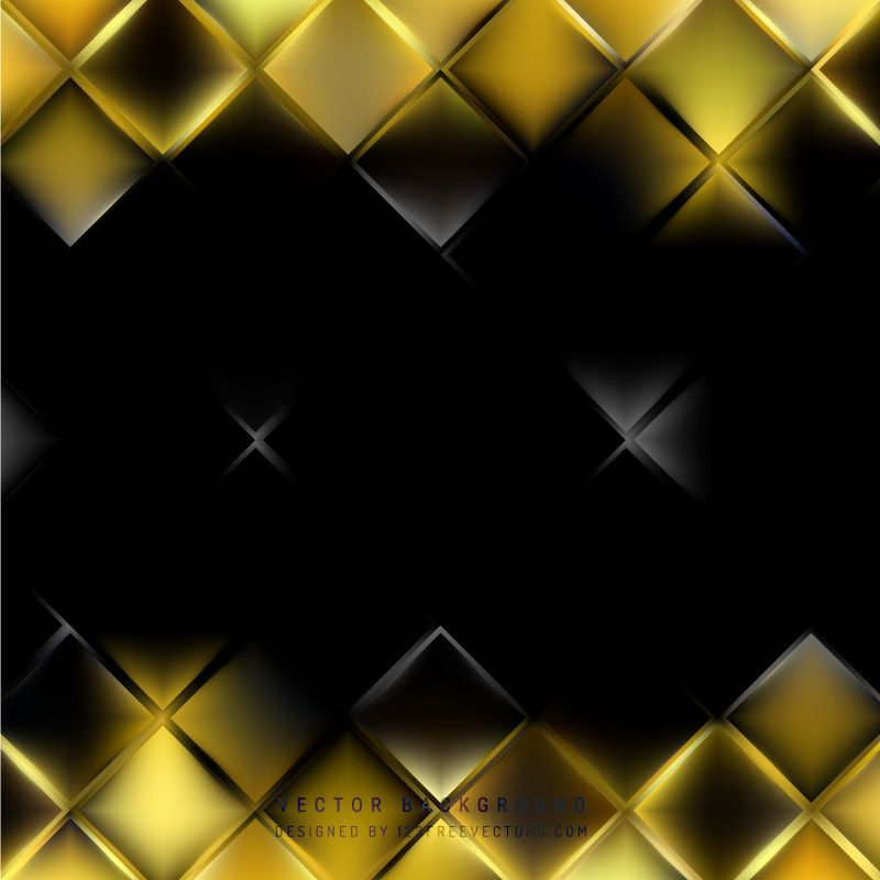 Abstract Black Yellow Square Background Design Background Design