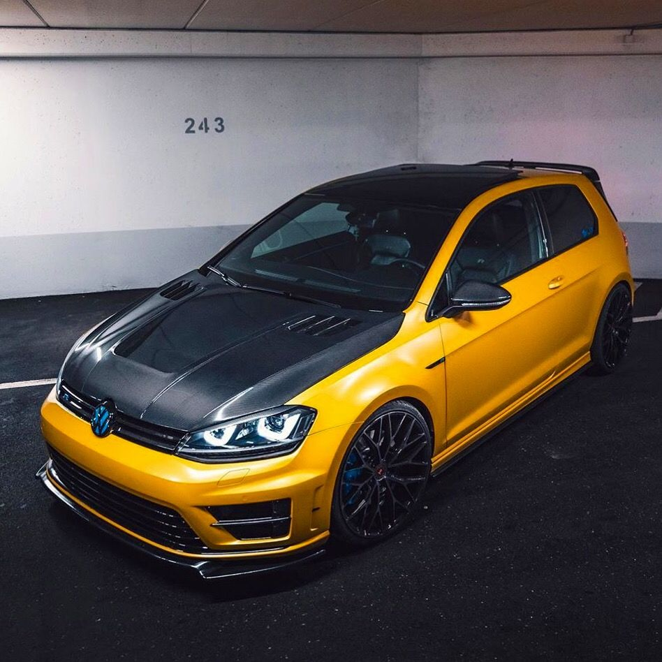 Yellow Beast Da X7r Golf7r Golfr Golf7 Vwgolf Golf Golf6r Golf6 Yellow Golf7gti Volkswagen