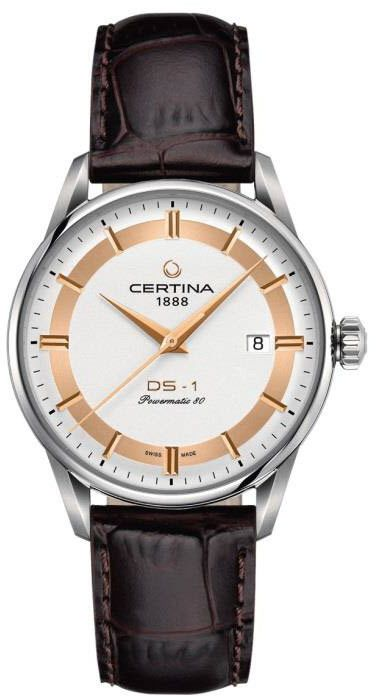 Certina Watch DS-1 Himalaya Powermatic 80 #add-content #basel-16 #bezel-fixed #bracelet-strap-leather #brand-certina #case-depth-11-7mm #case-material-steel #case-width-40mm #date-yes #delivery-timescale-1-2-weeks #dial-colour-silver #gender-mens #luxury #movement-automatic #new-product-yes #official-stockist-for-certina-watches #packaging-certina-watch-packaging #style-dress #subcat-ds-1 #supplier-model-no-c029-807-16-031-60 #warranty-certina-official-2-year-guarantee #water-resistant-100m