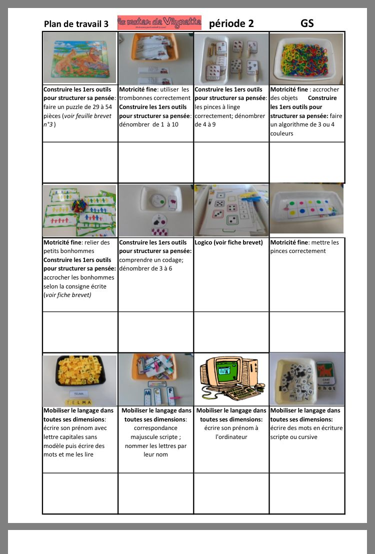 Epingle Par Caroline Guillemant Sur Ateliers Autonomes Montessori